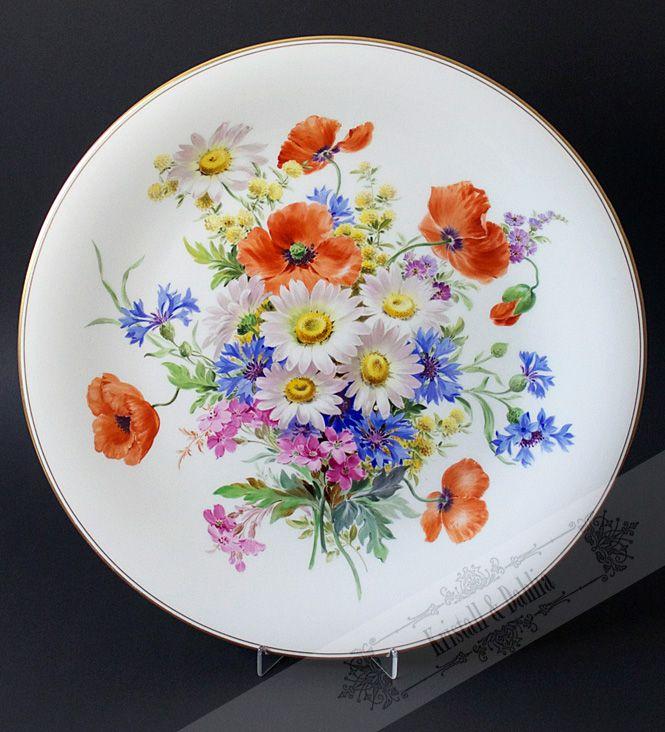 Grosser Wandteller Meissen 35 5 Cm Durchmesser Porzellan Porzellanmalerei Und Keramik Malerei