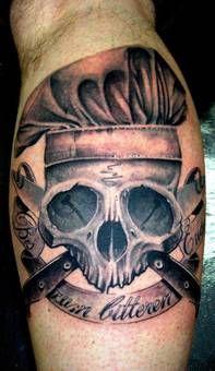 totenkopf tattoo koch | tattoo ideen mann | pinterest | tattoos - Tattoos Für Köche
