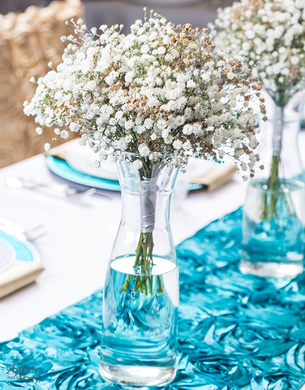 Baby\'s breath is stunning and inexpensive! Make your own centerpiece ...