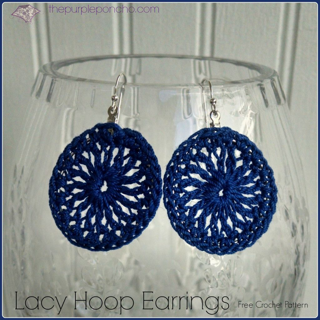 Royal blue lacy hoop earrings a free crochet pattern by the purple royal blue lacy hoop earrings a free crochet pattern by the purple poncho dt1010fo