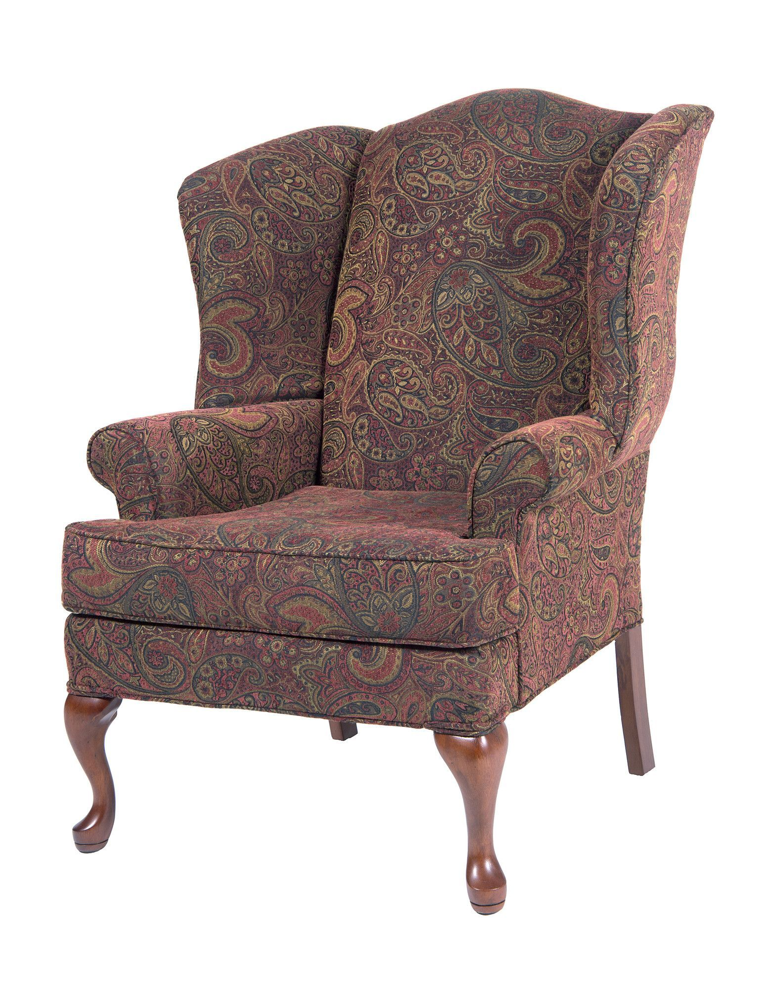 Best Comfort Pointe Paisley Wing Back Chair Reviews Wayfair 640 x 480