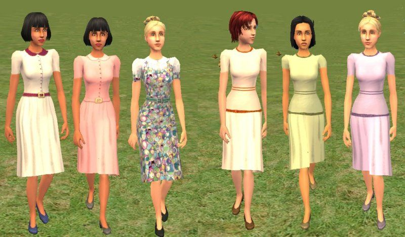 Mod The Sims - Vintage dresses for teens