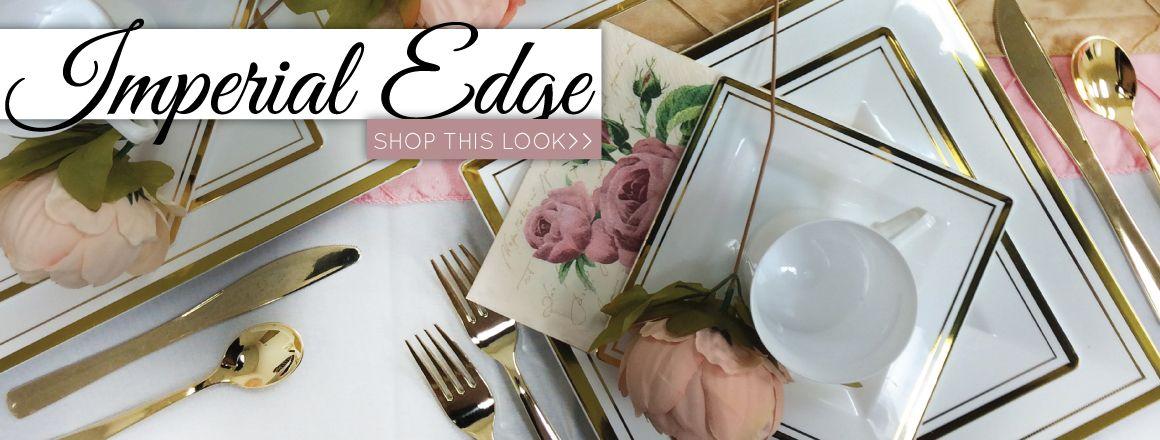 Elegant Disposable Dinnerware - Plastic Wedding Plates - Posh Party Supplies & Elegant Disposable Dinnerware - Plastic Wedding Plates - Posh Party ...