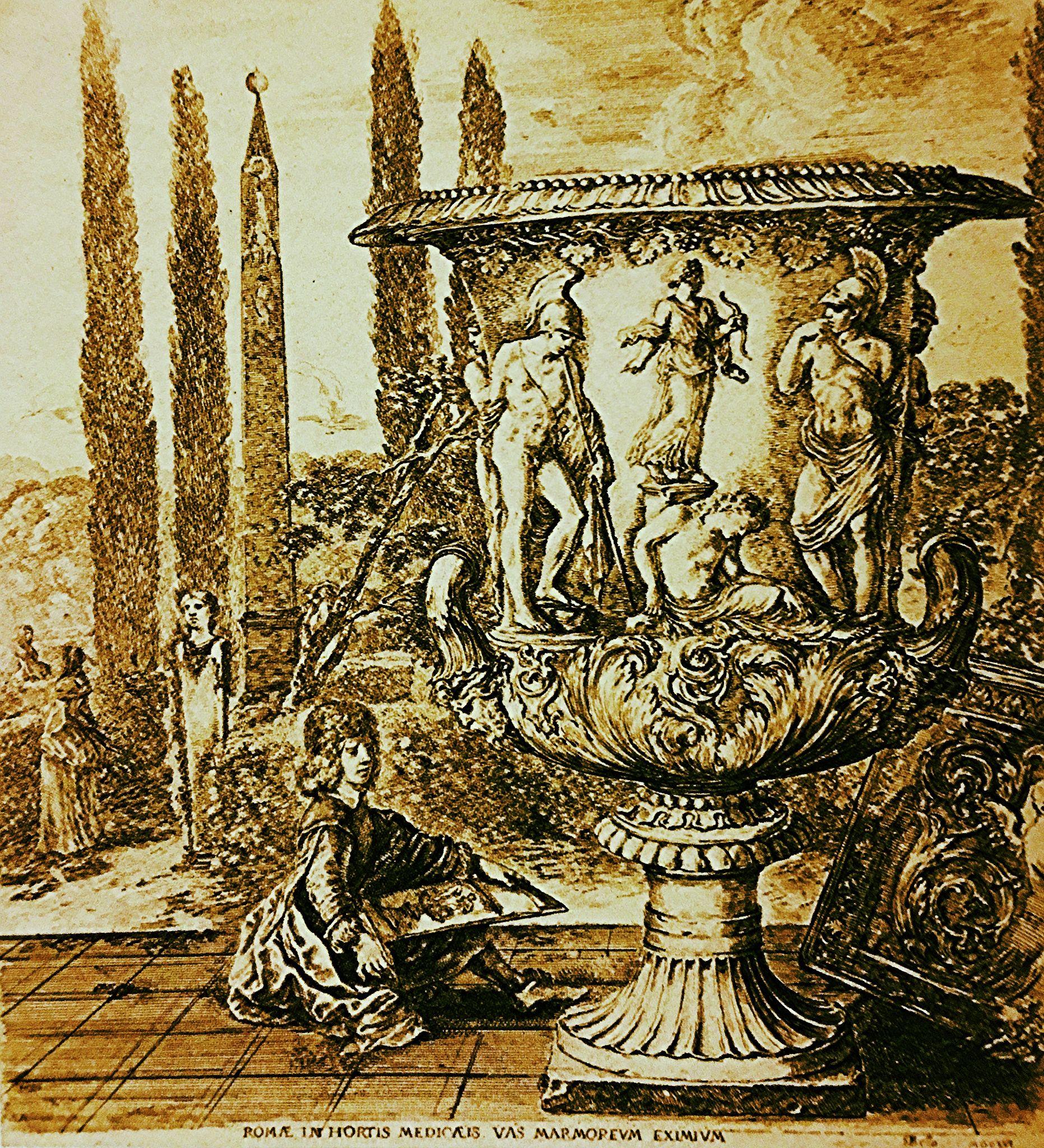 "https://flic.kr/p/Bm4cDi | Luigi Speranza -- STEFANO DELLA BELLA, ""The Medici Vase,"" 1656, etching on paper, 12 x 10"" -- THE ALLURE OF ANCIENT ROME."