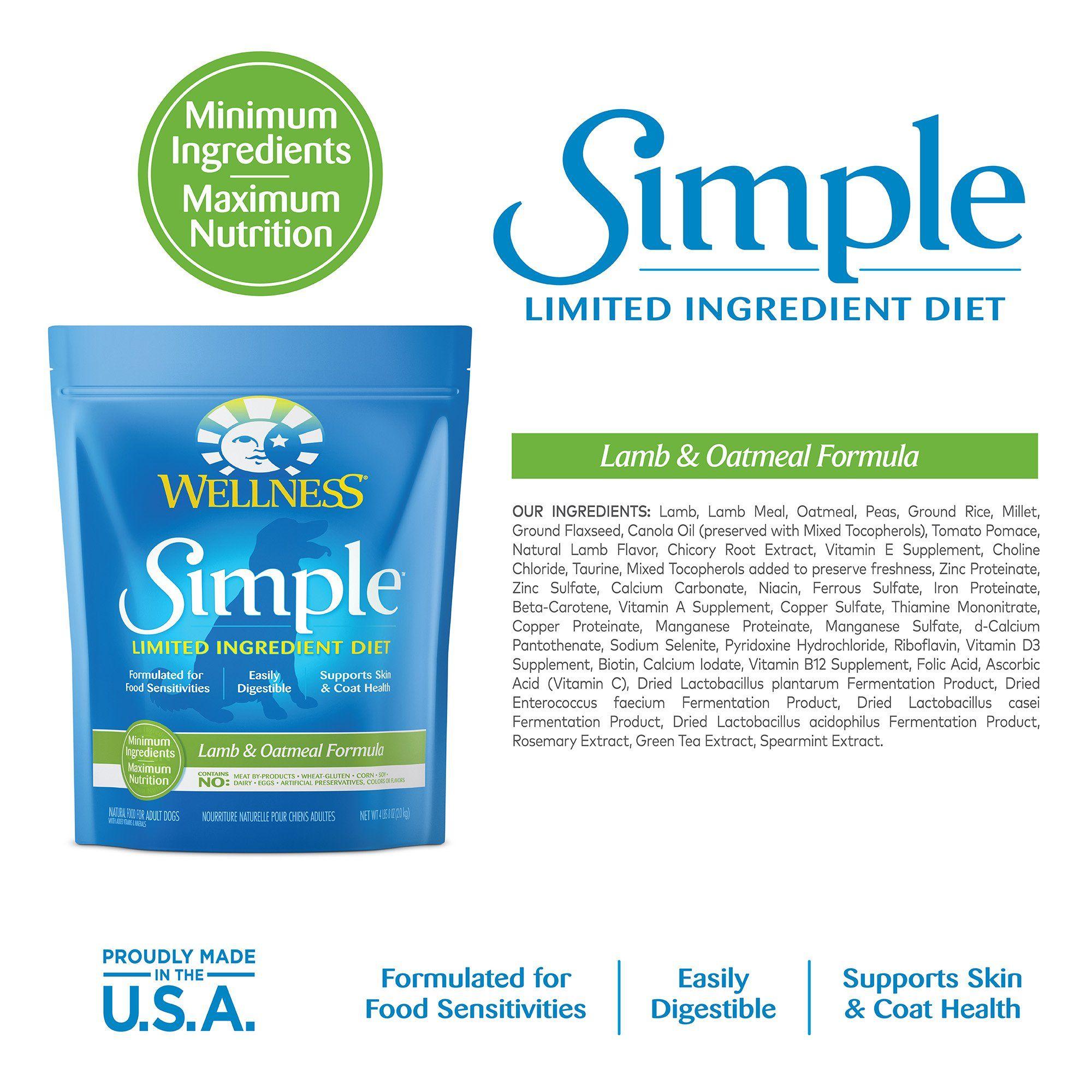 Wellness Simple Natural Limited Ingredient Dry Dog Food Lamb Daphnia Dog Food Recipes Dry Dog Food Food