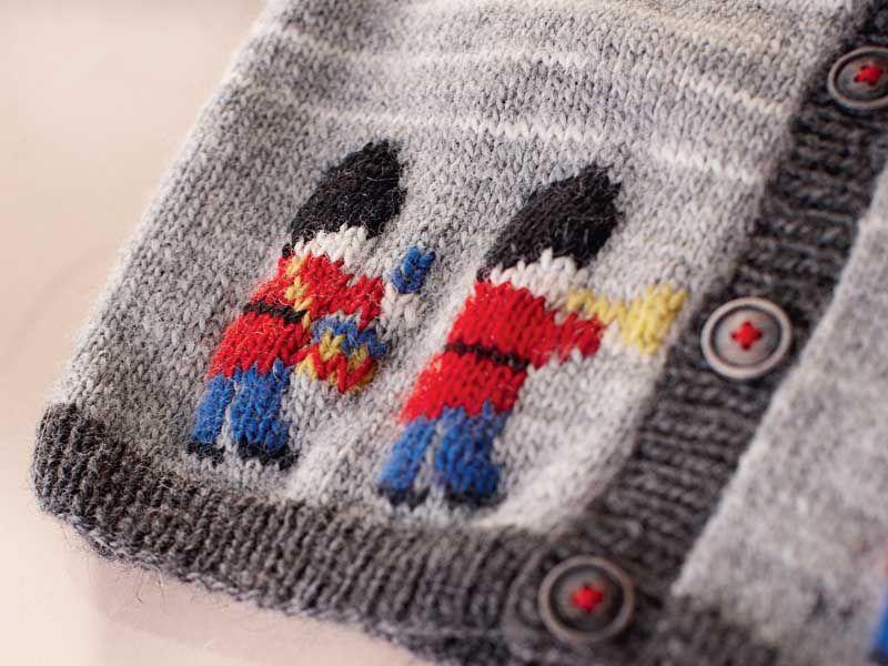 Выполнение вышивки по петлям - схема вязания спицами ...