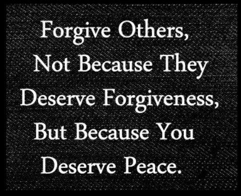 (Its not for the benefit of the abuser, its so YOU can find peace)