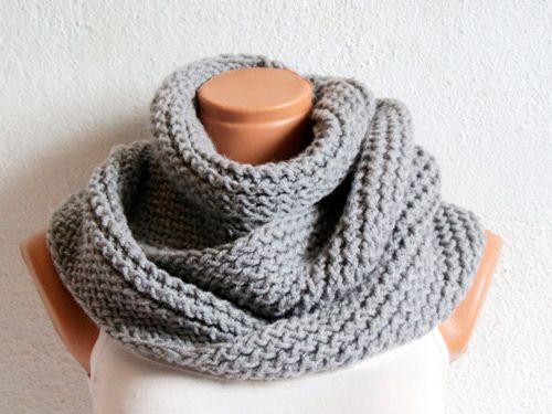 Bufandas y cuellos tejidos en dos agujas con patrones - Imagui ...