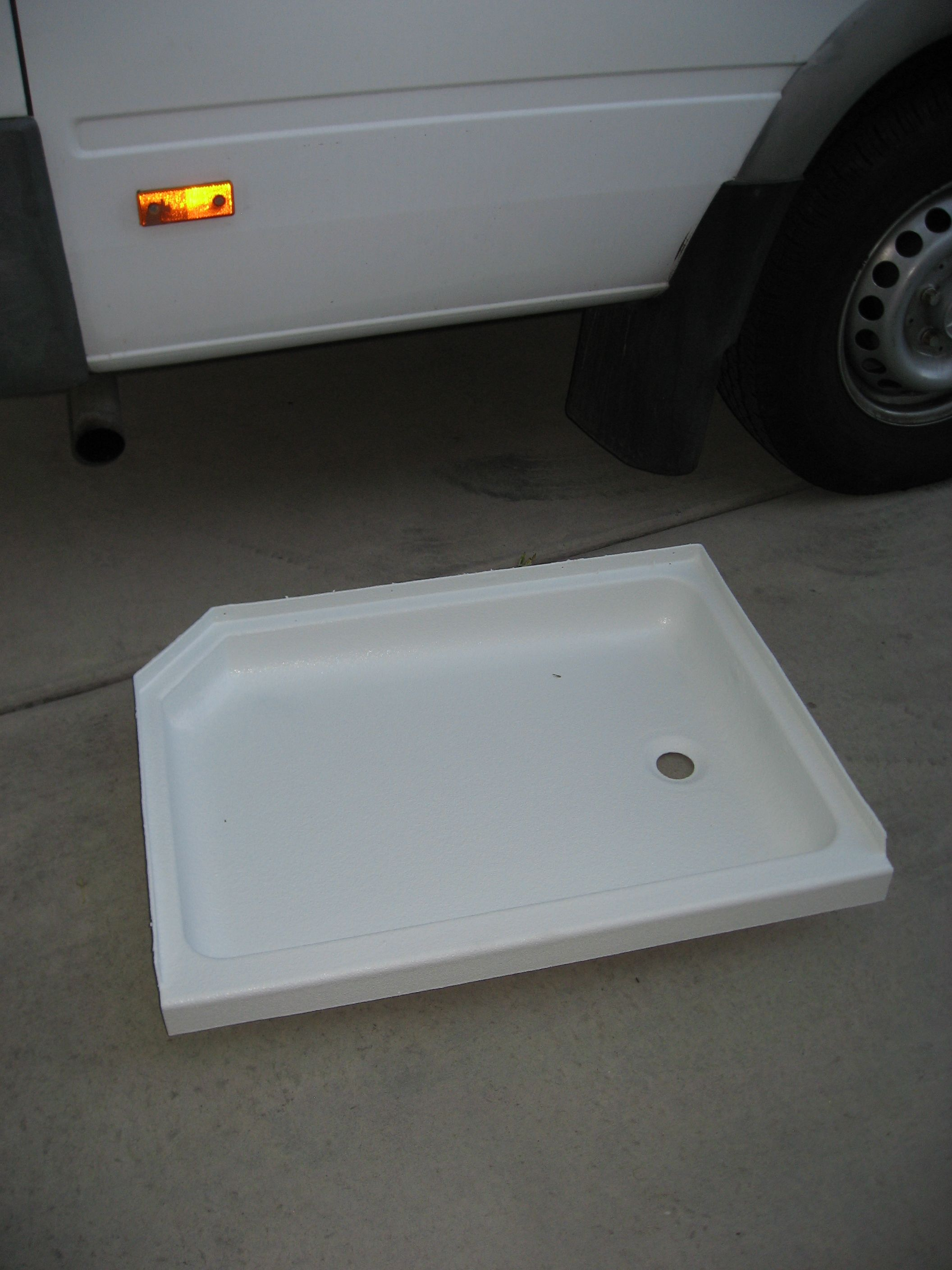 RV Remodel Refurbished Shower Pan | Cousin Eddie | Pinterest | Rv ...