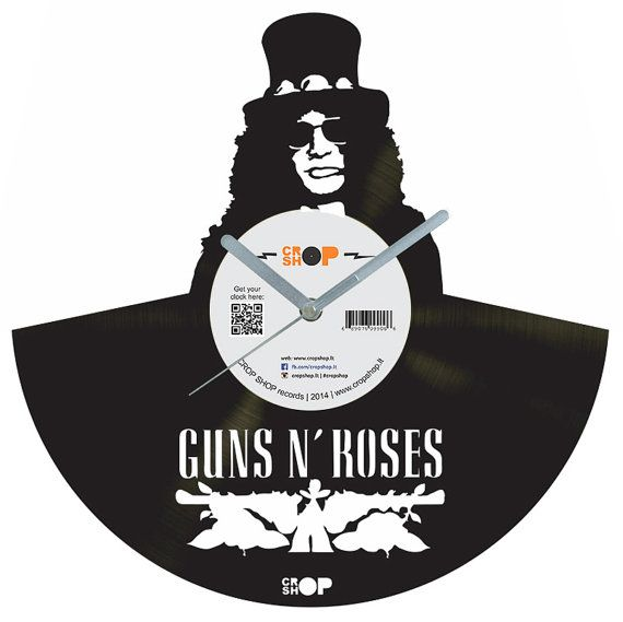 Guns N Roses Vinyl Clock Vinyl Records Pinterest Clocks Guns