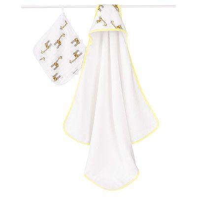 aden + anais Jungle Jam Giraffe Hooded 2 Piece Towel Set