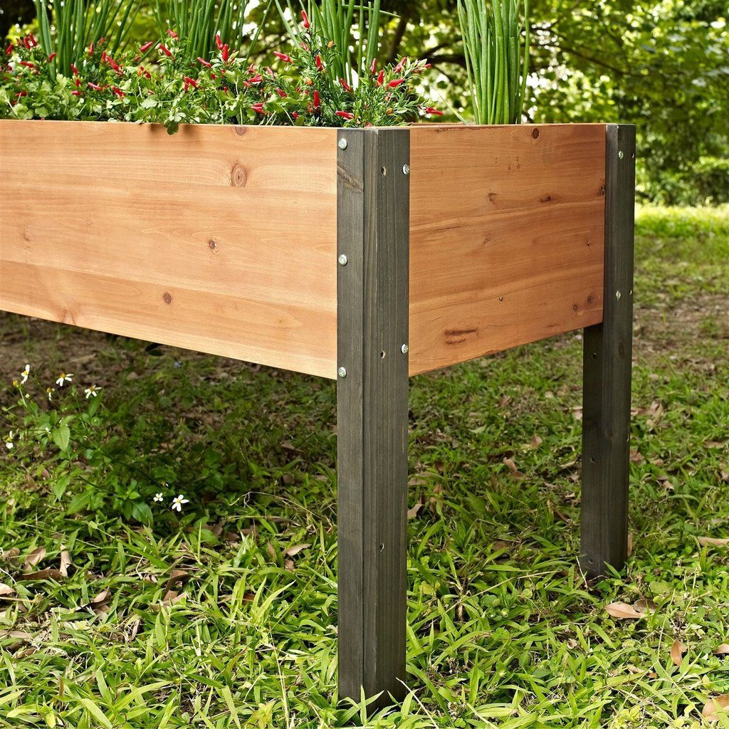 20 Raised Bed Garden Designs And Beautiful Backyard: Elevated Outdoor Raised Garden Bed Planter Box