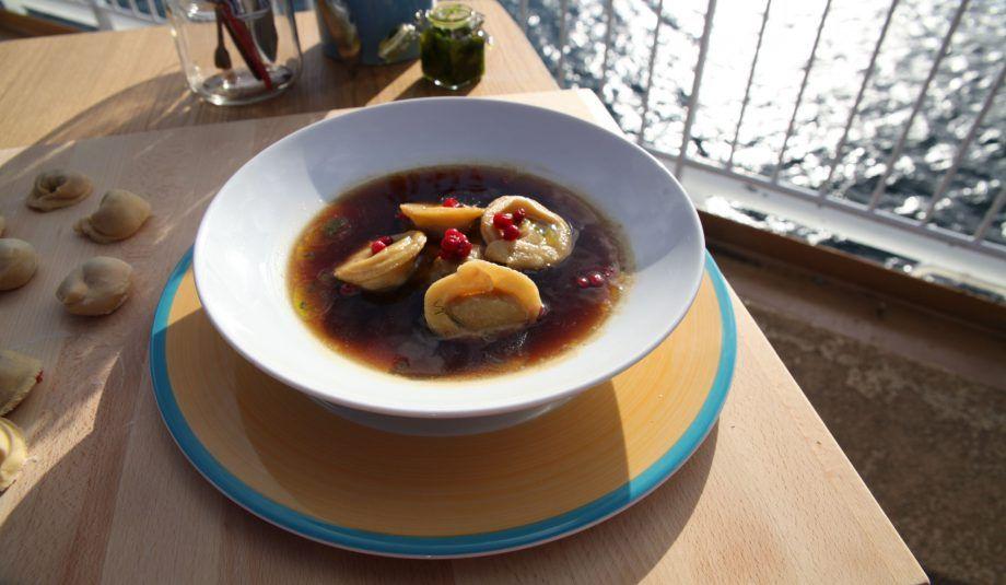 Reindeer Pelmeni Russian Dumplings In Game Broth New Scandinavian Cooking Swedish Recipes Recipes Russian Dumplings