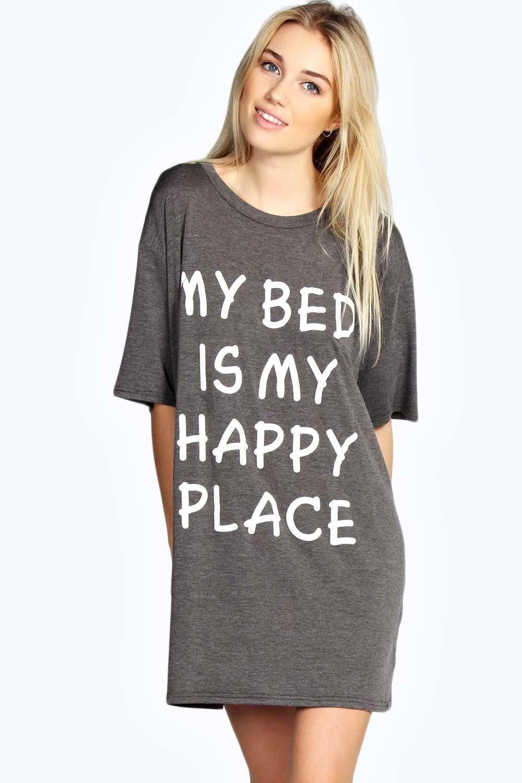 Black t shirt nightdress - Zena Oversized Tshirt Night Dress