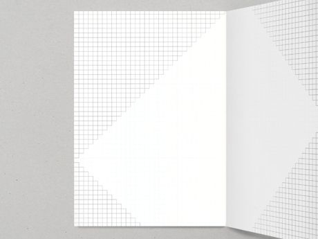 Notebook with triangular sections of graph paper I mean, really - triangular graph paper