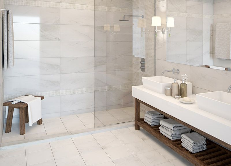 Morland marble effect matching wall, floor and mosaic tiles ...