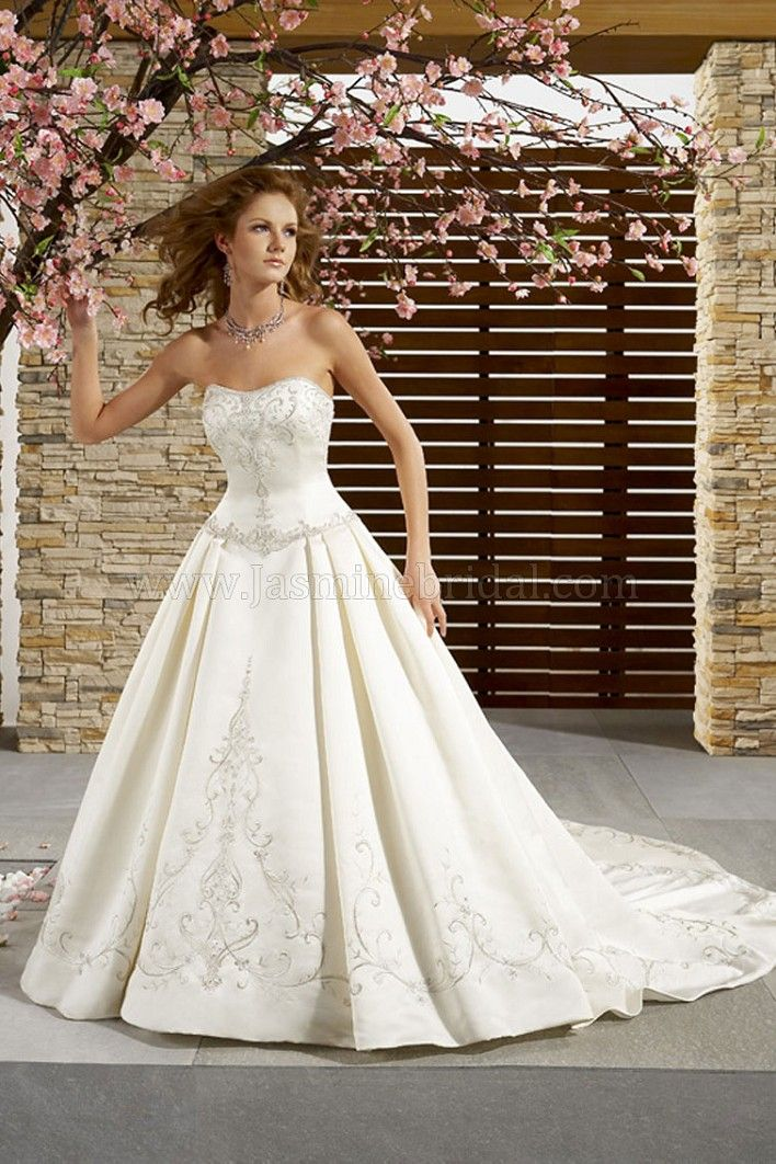 Strapless wedding gown from Jasmine Bridal (Style: F873). | Designer ...