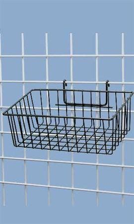 """Black Mini-grid Basket - 12"""" X 8"""" X 4"""",• Black Powder Coat Finish • Ideal for Small Merchandise • Fits Easily Onto 3"""" Oc Grid and 1"""" • Overall Dimensions: 12"""" X 8"""" X 4"""",display Your Small Merchandise to Your Customers in an Organized Fashion Using These Black Mini Grid Baskets! These 12''l X 8''w X 4""""d Wire Baskets Are Sturdy and Will Easily Attach to Any Grid Panel. All You Have to Do Is Fill the Basket and Watch Your Merchandise Fly Out of the Door! The Black Po..."""
