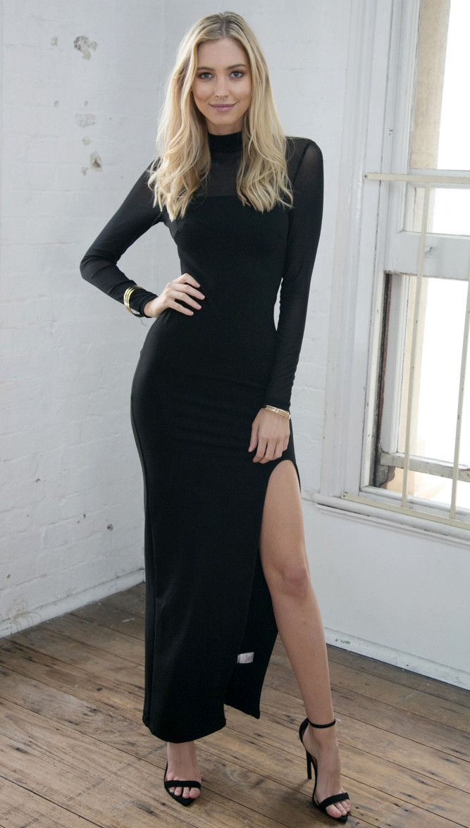 Stop and Stare Dress (Black)
