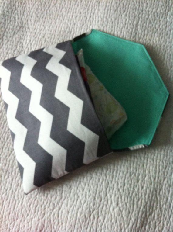 Organic Cotton Chevron Print Diaper Clutch by ThePurpleIvy on Etsy, $23.00