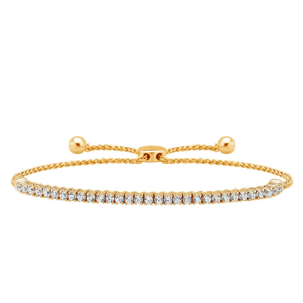 Details About Diamond Bolo Bracelet 10k Rose Gold Tennis Adjustable 9 0 90 Ct Mother S Day
