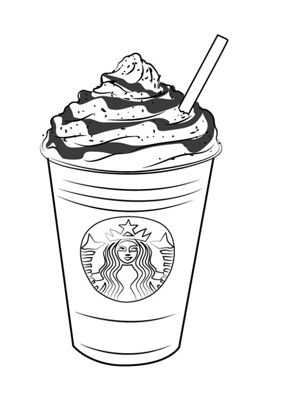 Starbucks Coloring Page K5 Worksheets In 2020 Starbucks Drawing Coloring Pages Free Coloring Pages