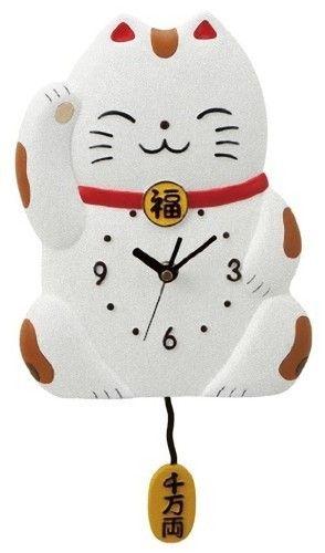 Details about RARE Maneki Neko Lucky Cat Alarm Clock Japan | I want