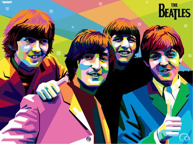 The Beatles in WPAP by Aryakuza