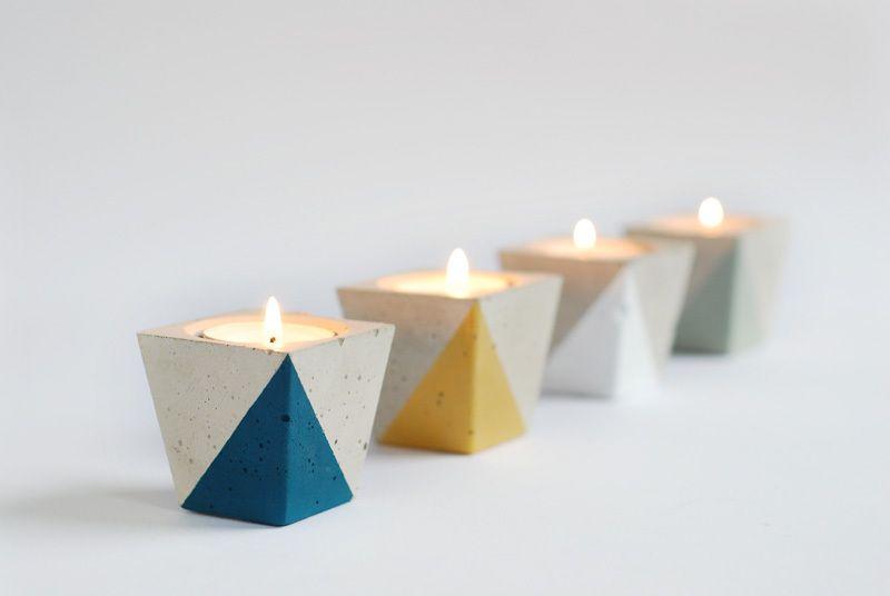 *Teelichthalter aus Beton* von motoroto auf DaWanda.com