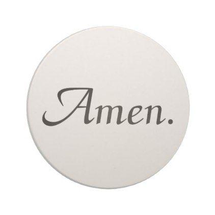 Fancy Script Amen Coaster - script gifts template templates diy customize personalize special