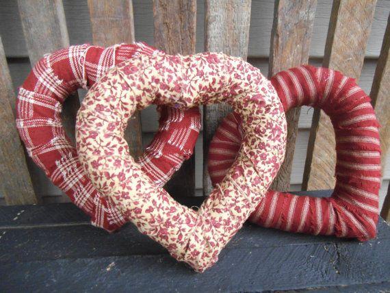 Rustic Hearts  Rustic Wreath  Heart Wreath 3 of by RagsandBerries, $15.00