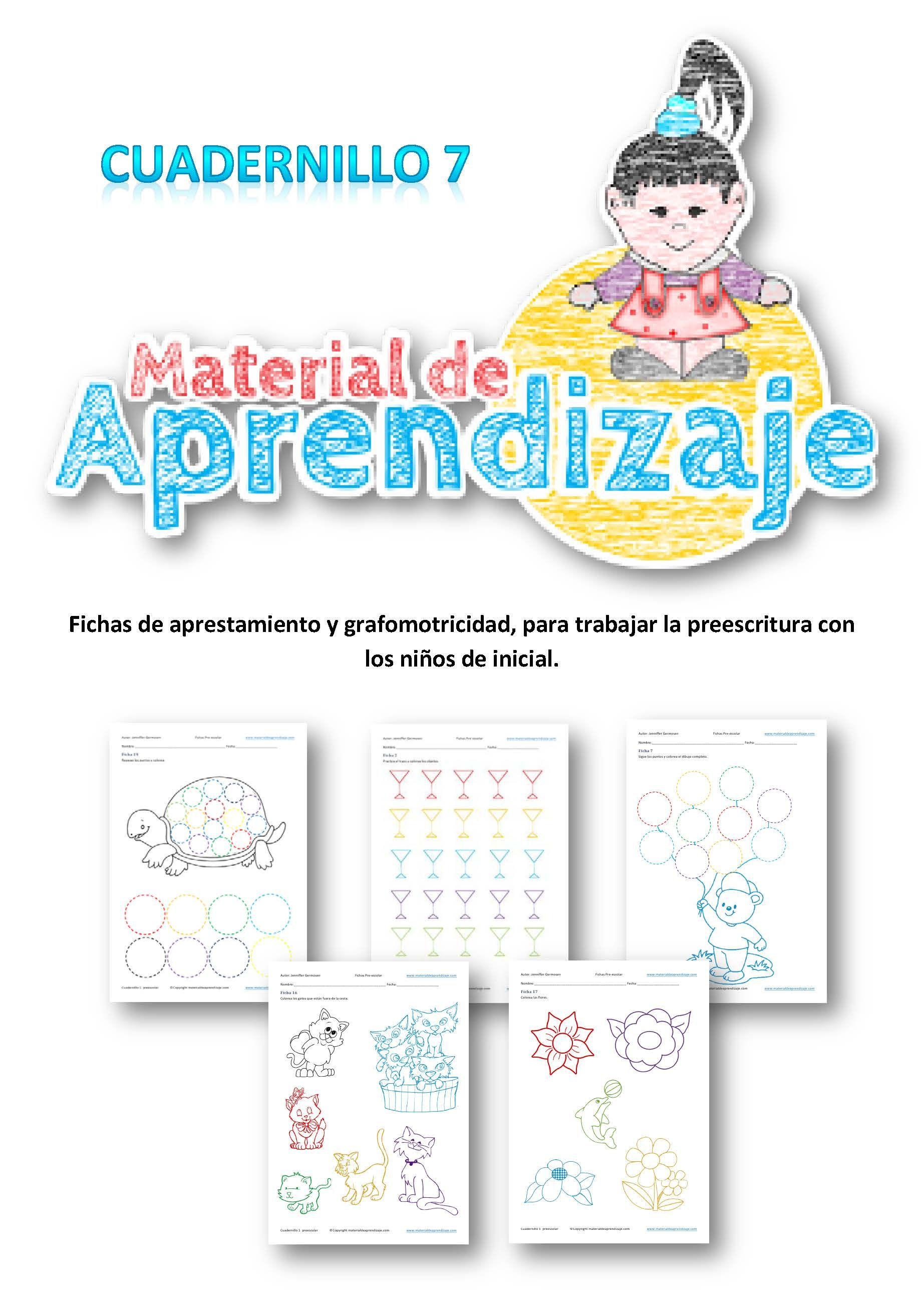 Cuadernillo preescolar 7   MAT-PRÉ-escolar   Pinterest