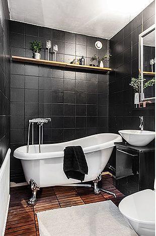Les petites surfaces du jour : 39m² en brun et noir ...