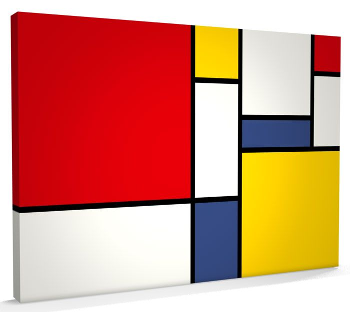 Details about Abstract Mondrian Style Art, Box CANVAS A3 to A1 ...