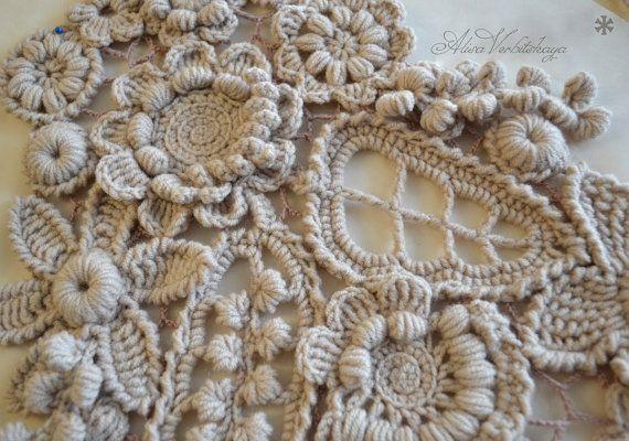 Châle. Echelle. Étoles écharpe châle crochet par AlisaSonya sur Etsy