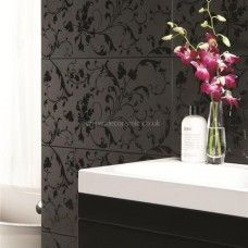 Original Style Beauville Black Negative clear glass tile GW-BFB6030N 600x300mm Glassworks
