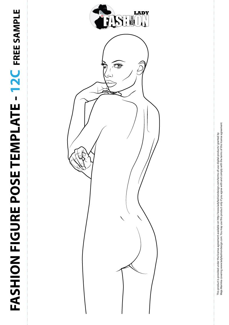 Download free fashion figure templates | Body template, Female ...