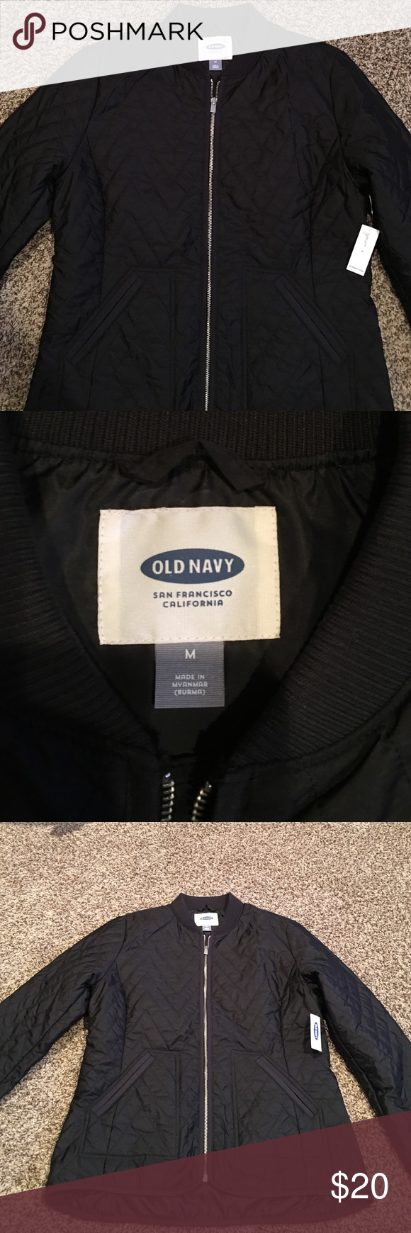 Old Navy lightweight jacket New! Old Navy lightweight black jacket. Ordered online, never worn with tags. Solid black, with silver zipper. Old Navy Jackets & Coats Puffers