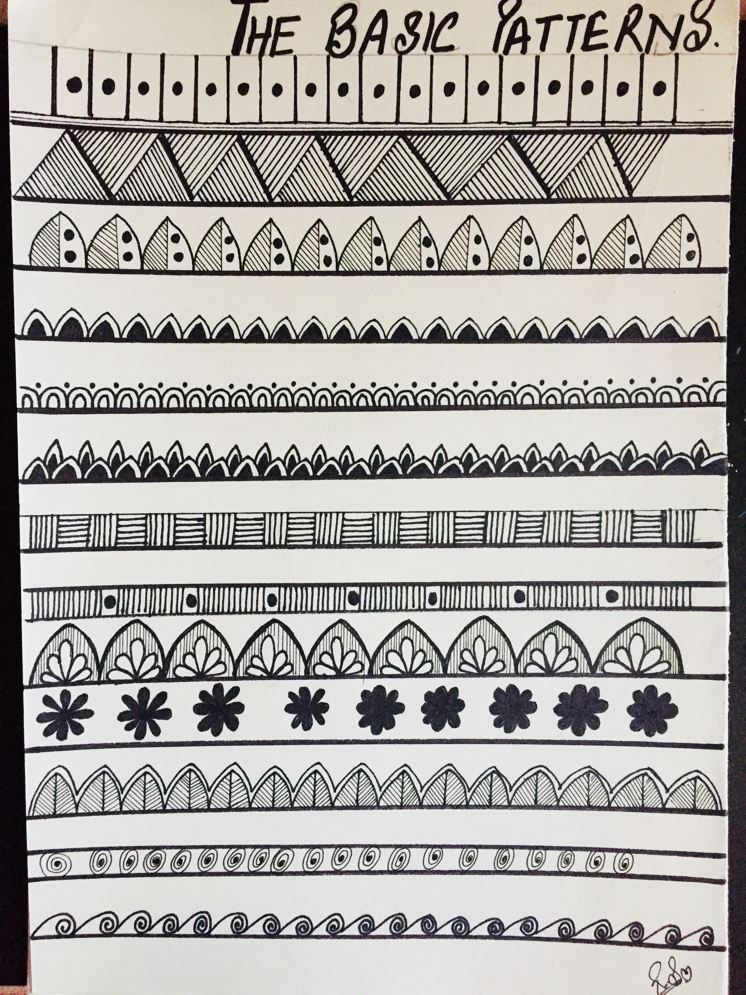 Zentangle patrones | zentangle | Pinterest | Zentangle, Patrones y ...