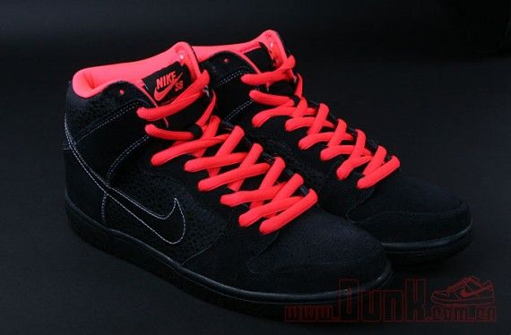 f1167ec2a3cd Nike SB Dunk High - Black Safari - Atomic Red - SneakerNews.com ...