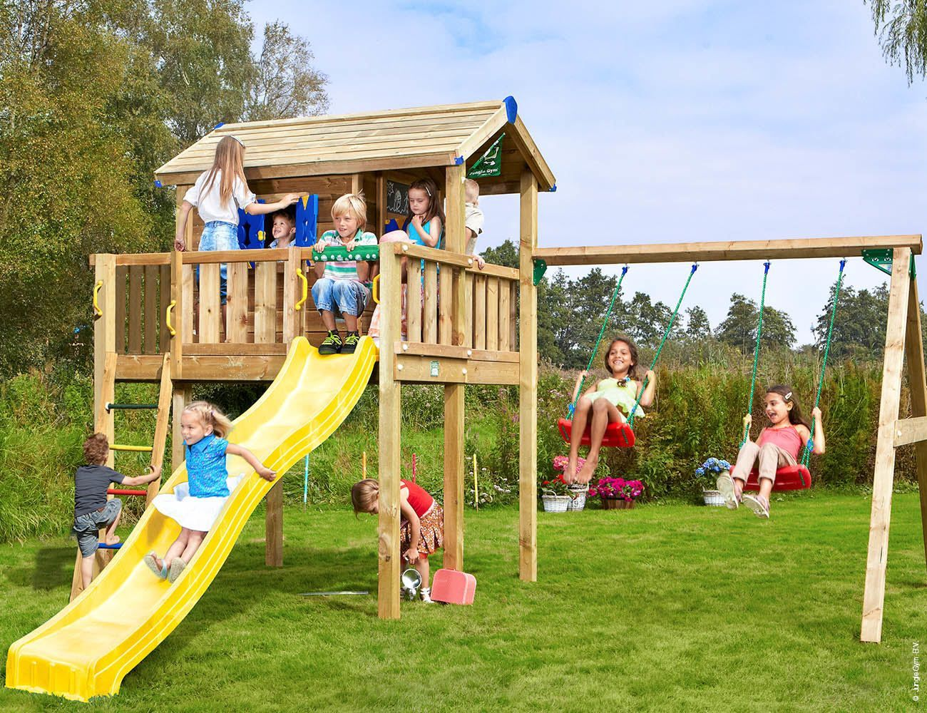 Children S Swing Sets Playhouse Xl 2 Swing In 2020 Play Houses Swing Sets For Kids Childrens Swings