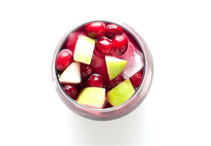 Cranberry Apple Cider Sangria Recipe Cider sangria