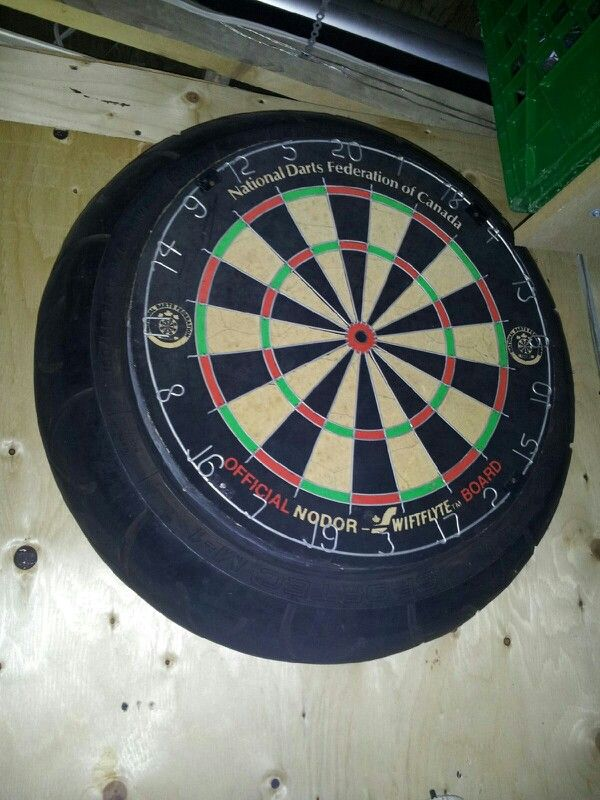 Man Cave Idea Take A Old Motorcycle Tire And Put Dart