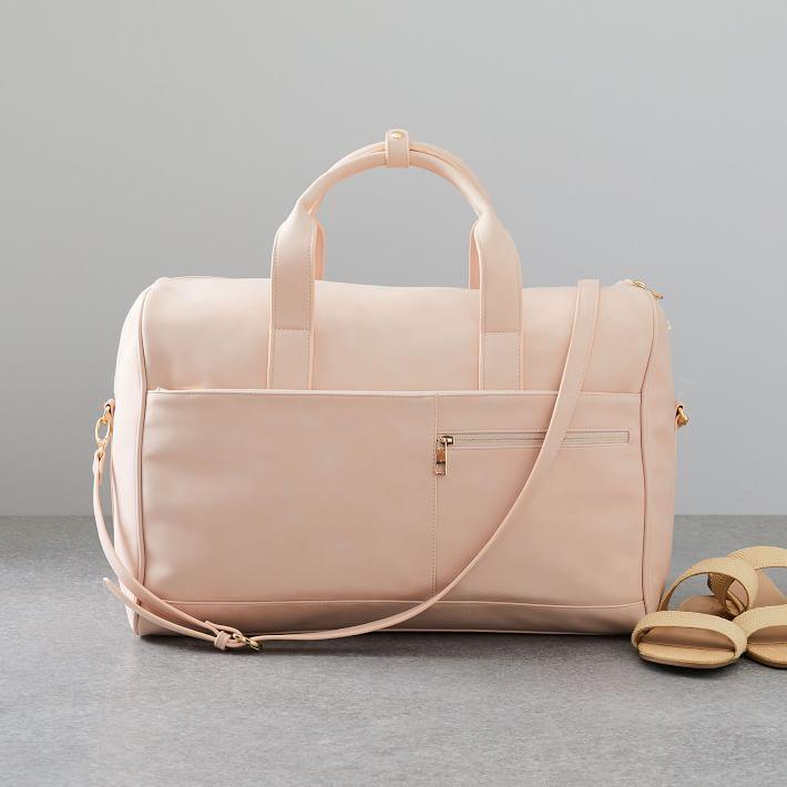 Ecotech Luggage Vegan Leather Duffels In 2020 Leather Weekender Bag Vegan Leather Bag Leather Duffel