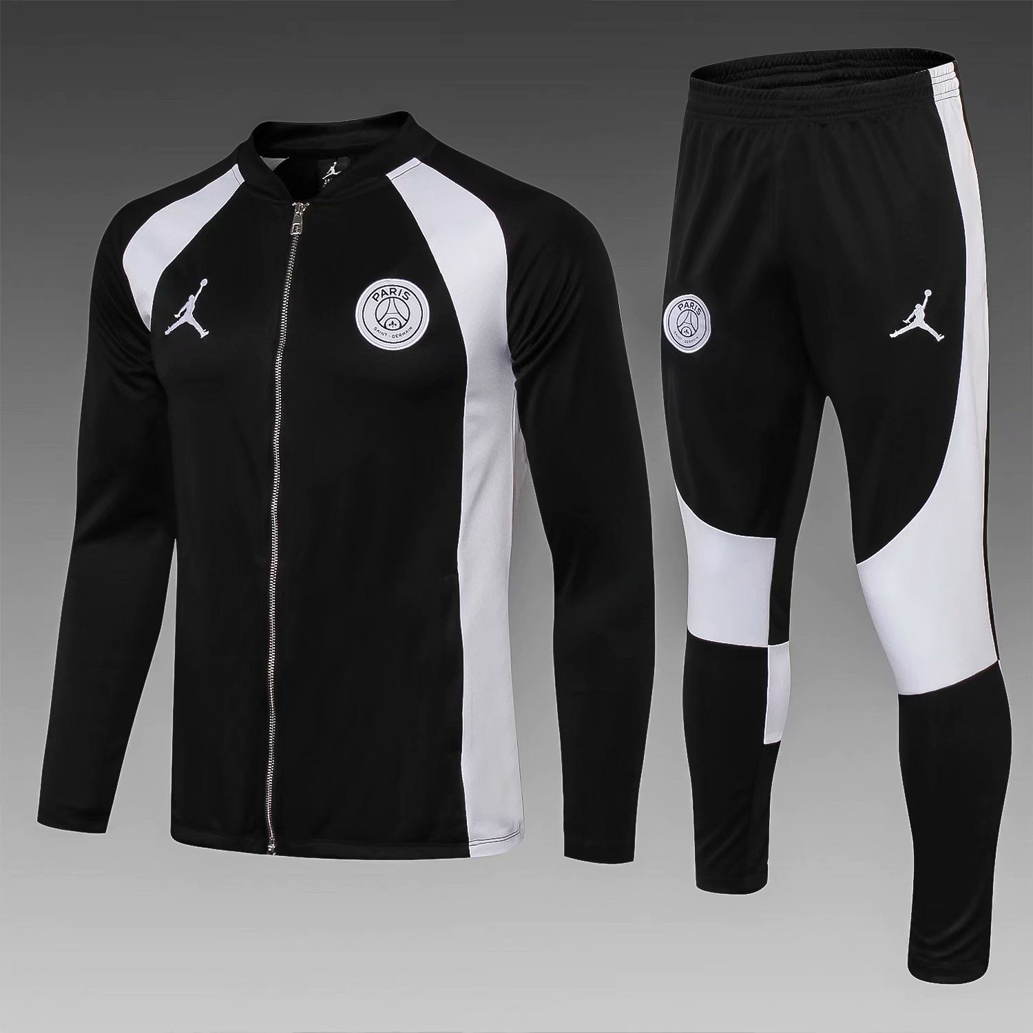 4c087caf8c89 PSG 18 19 Jordan Black (with white) Men Jacket Tracksuit Slim Fit in ...