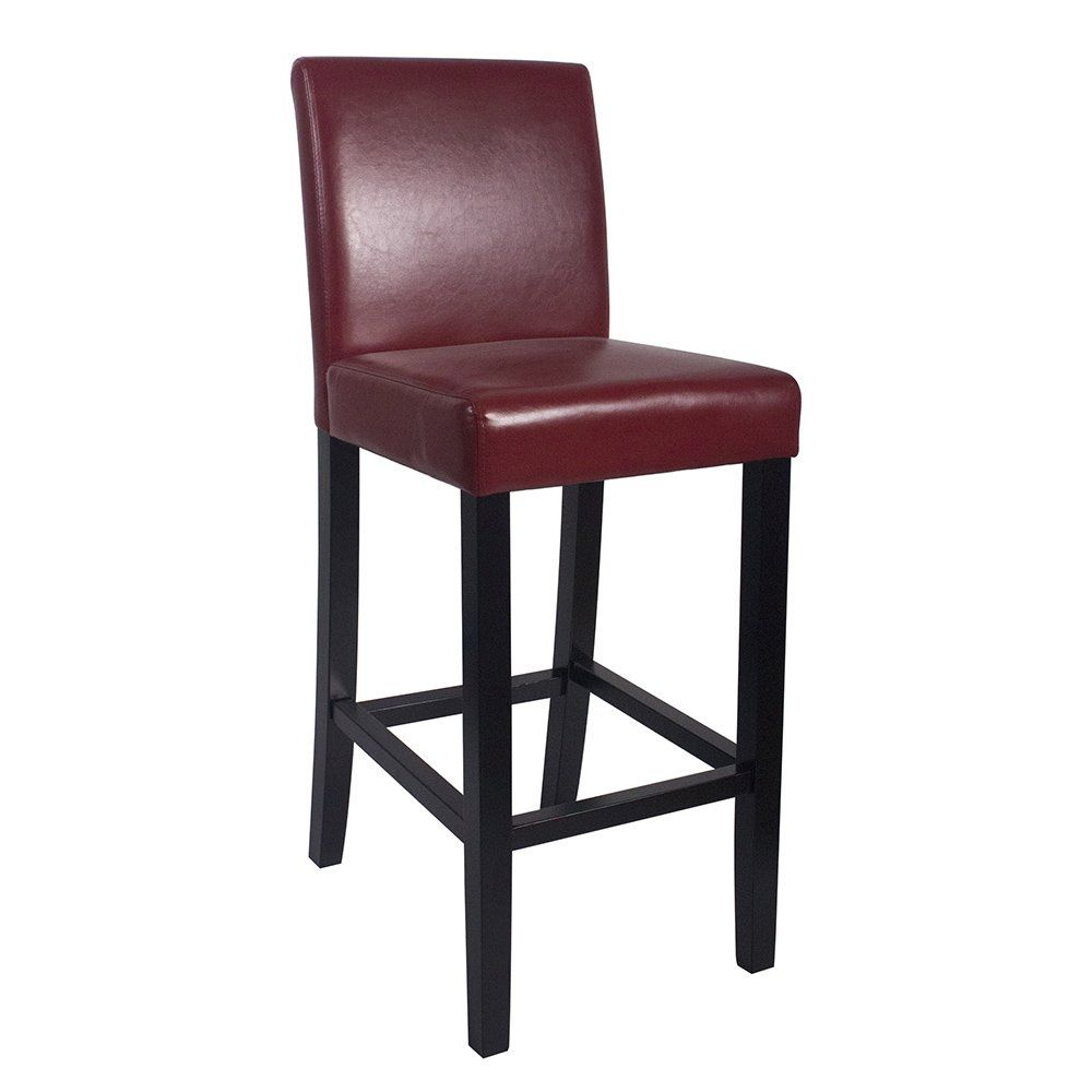 Strange Set Of 4 Kendall Contemporary Wood Faux Leather Barstool Squirreltailoven Fun Painted Chair Ideas Images Squirreltailovenorg