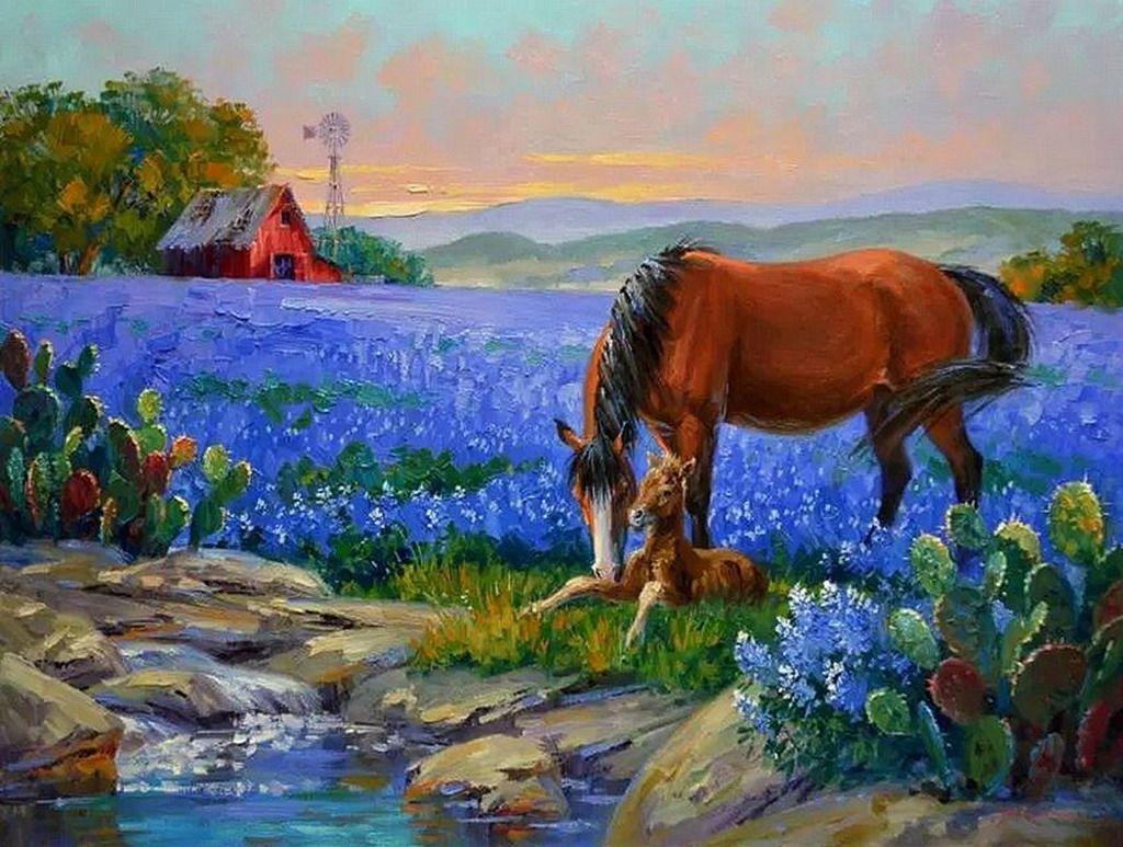 paisajes-de-cultivos-con-flores-mikki-senkarik-cuadros | pinturas ...