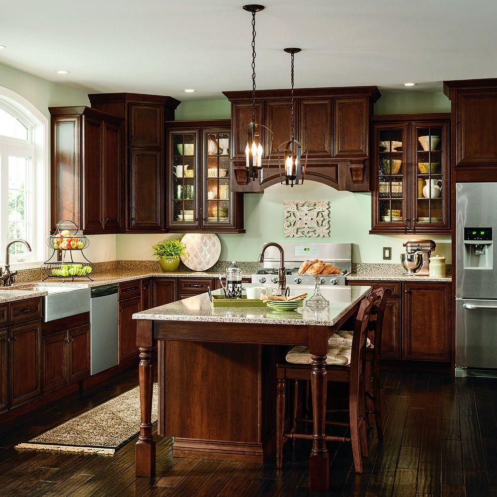 Thomasville Classic 14 5x14 5 In Cabinet Door Sample In Addington Cherry French Roast 772515397028 The Home Depot In 2020 Brown Kitchen Cabinets Cherry Cabinets Kitchen Home Decor Kitchen
