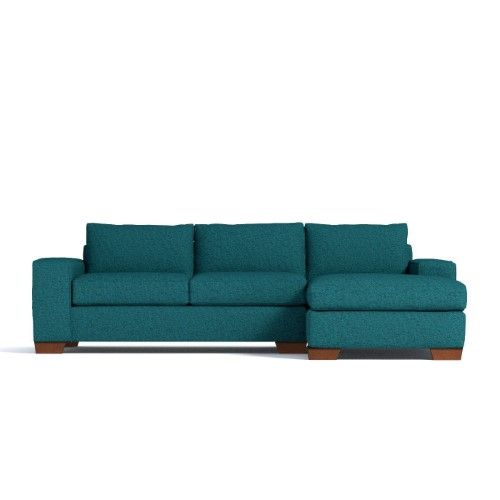 Melrose 2pc Sleeper Sectional Chicago Blue Raf Chaise On The Right As Shown