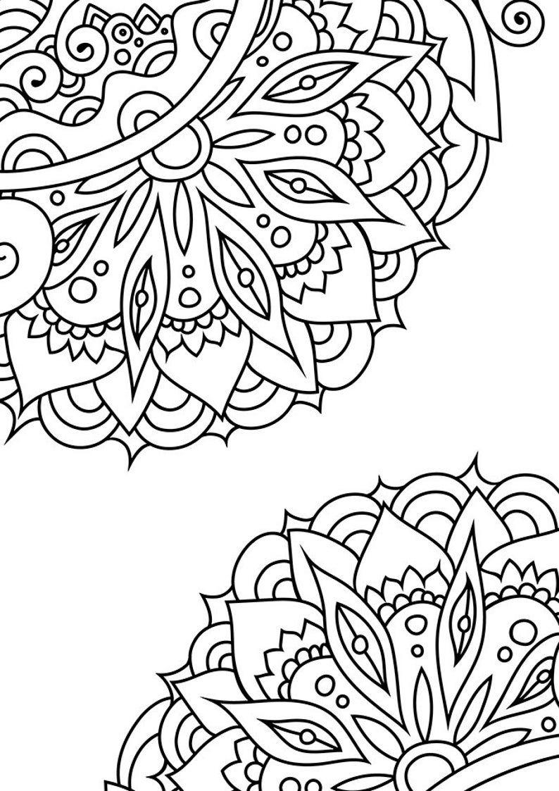 Doodle Art Coloring Zen Coloring Page Zen Doodle Coloring Pattern Coloring Page Indian Coloring Page Henna Coloring Page In 2021 Coloring Pages Mandala Coloring Pages Zen Colors